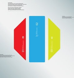 Octagon template consists of three color parts on vector image