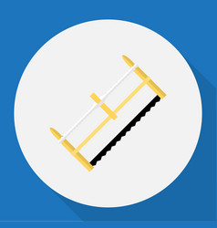 Of tools symbol on hacksaw vector