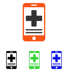 Online medical data flat icon vector