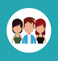 People friends together relation vector