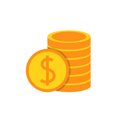pile with coins vector image