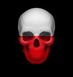 Polish flag skull vector