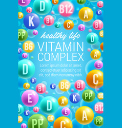 Poster of vitamins and multivitamins vector