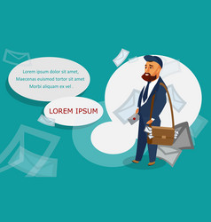 postman banner template with text space vector image