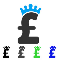Pound crown flat icon vector