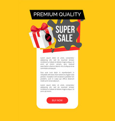 Premium quality of products super sale discount vector