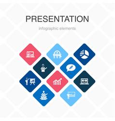 Presentation infographic 10 option color design vector
