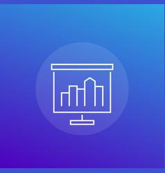 presentation line icon vector image