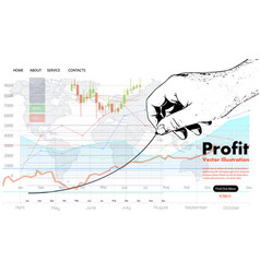 Profit concept growing business graph vector