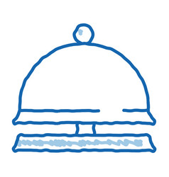 Reception equipment bell doodle icon hand drawn vector