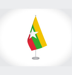 Republic union myanmar flag on white vector