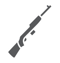 Rifle carbine glyph icon army and military vector