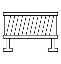 Road barrier icon outline style vector