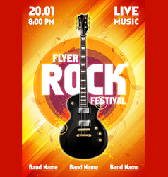 rock festival concert party flyer vector image