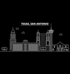 San antonio silhouette skyline usa - san antonio vector