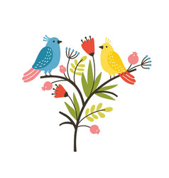 Seasonal composition with pair lovely cute vector