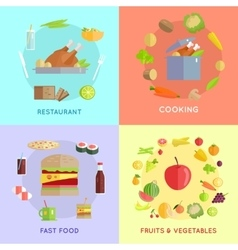 Set of Food Concepts vector