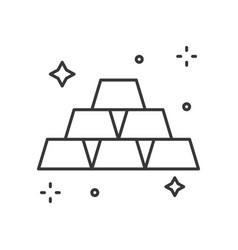 Shiny gold bar icon wealth concept editable vector