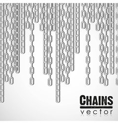 Silver link chain dangling vector