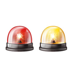 siren alarm color lights 3d vector image