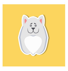 Small puppy of argentinian dog front view icon vector