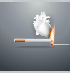 smoking burns yourself vector image