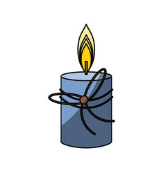 spa candle isolated vector image