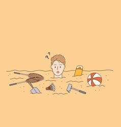 summer holidays beach recreation concept vector image