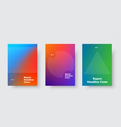 templates for minimalistic cover with a gradient vector image