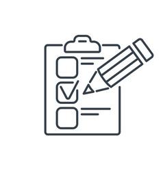 Test line icon vector