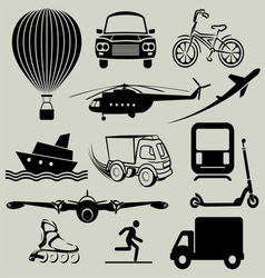 transport icons3 resize vector image
