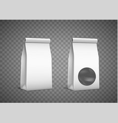 white paper packaging template empty package vector image