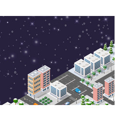 winter christmas urban vector image