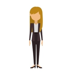 woman in costume with long blonde hair vector image