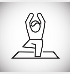 yoga asan thin line on white background vector image