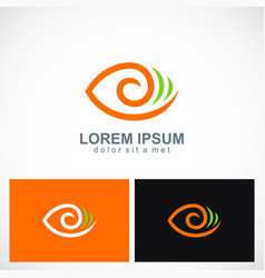 abstract eye circle logo vector image