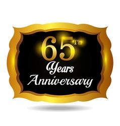 Anniversary label design vector image
