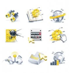 communication icon set internet vector image vector image