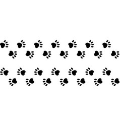 Footprints paws dog cat trail animal vector