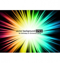 light sparkle with rainbow colurs vector image vector image