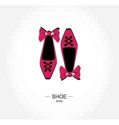 Logo shoe store shop boutique label vector image vector image