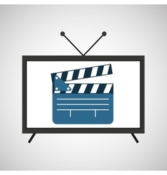 screen tv movie clapper film vector image