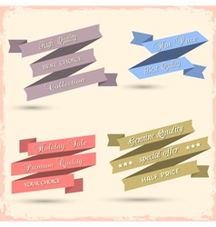 set of vintage ribbons for design vector image vector image