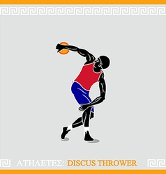 Athlete Discus thrower vector image vector image