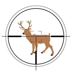 Deer hunting targer vector image vector image