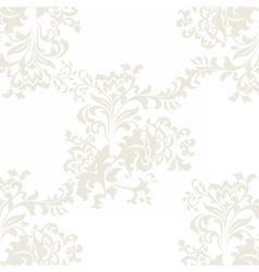 Floral baroque ornament pattern vector