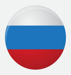 Russia flag icon flat vector image