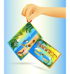summer cards vector image vector image