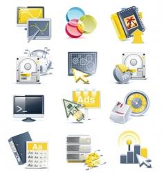 website development icon set vector image vector image