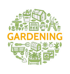 gardening planting horticulture colored banner vector image